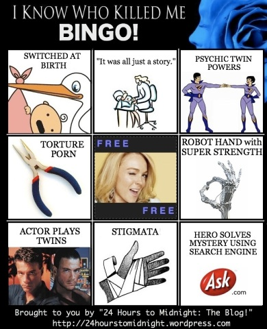 I Know Who Killed Me BINGO!